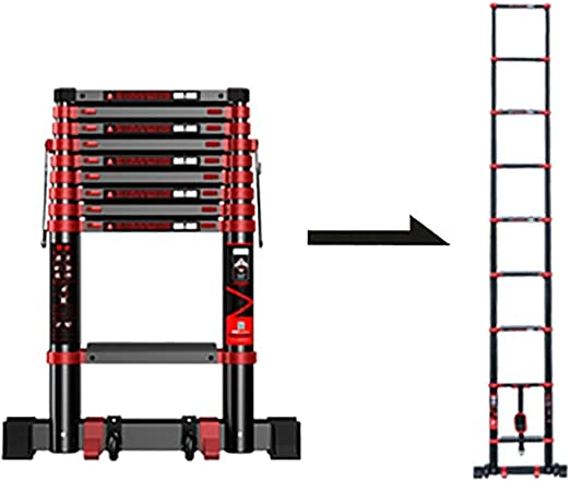 WGOOGA Escalera Larga 2.3-5.9M Escalera telescópica Profesional ...
