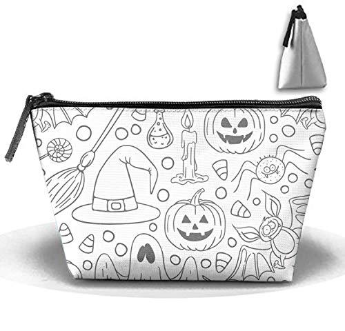 jiajufushi Halloween Women¡¯s Travel Cosmetic Bags Small Makeup Clutch Pouch Cosmetic Toiletries Organizer Bag -