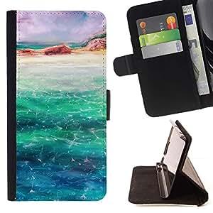Momo Phone Case / Flip Funda de Cuero Case Cover - Océano mar azul turquesa de Isla Arena Arte - LG Nexus 5 D820 D821