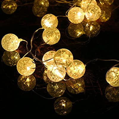 8 Modes Solar String Lights, Upgrade Gotideal® 50 LEDs Crystall Ball Globe Solar String Lights , Indoor/Outdoor Lighting for Garden Fairies, Home, Patio, Lawn, Party and Christmas Decoration