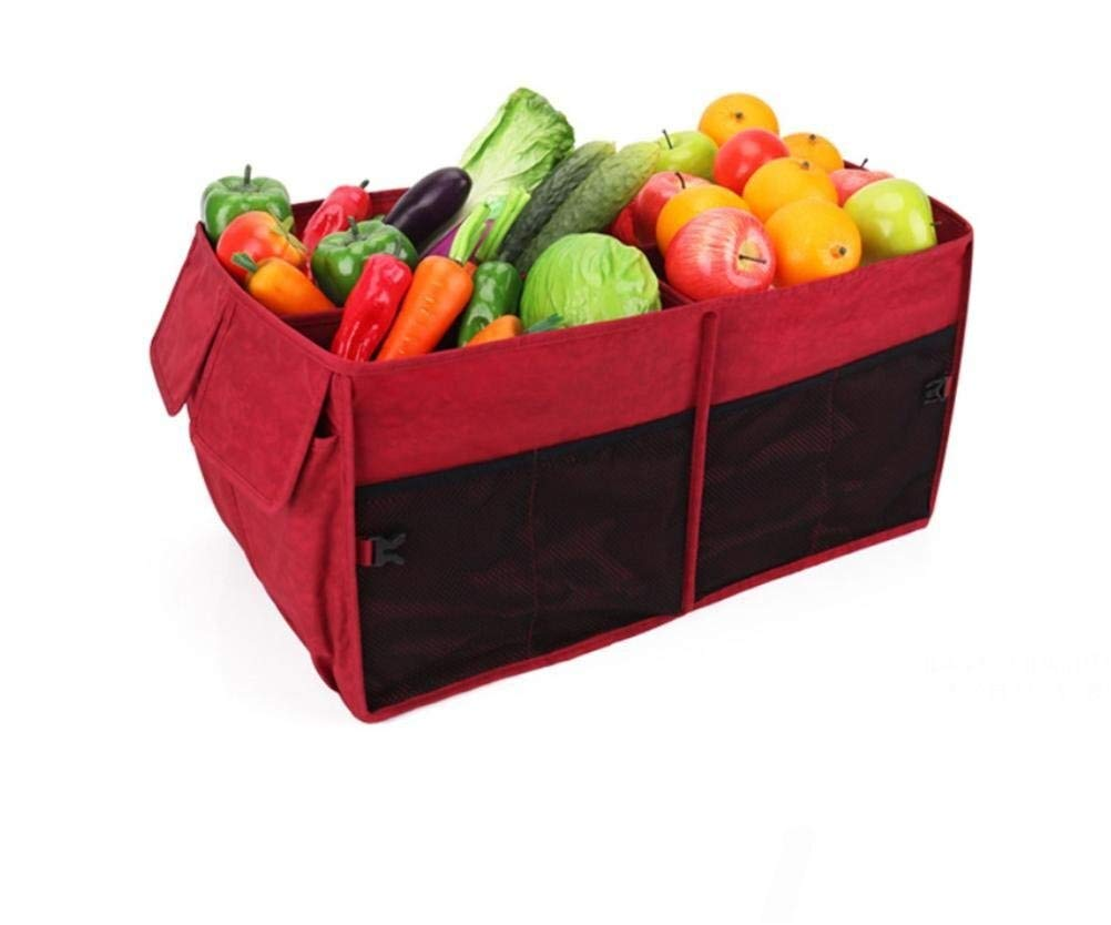 BAOYUANWANG Arge Capacity Ideal for Storing Groceries, Folding Flat Storage for Easy Storage Keep The seat Clean (Color : Red) by BAOYUANWANG (Image #2)