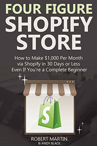 FOUR FIGURE SHOPIFY STORE: How to Make $1,000 Per Month via Shopify in 30 Days or Less... Even If You're a Complete Beginner - Make A Costumes Online