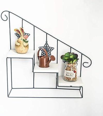 LCPG Adornos de época en Forma de Escalera de Hierro Forjado en Forma de Flor en la Pared en Rack de múltiples Capas en Maceta (Color : Brown): Amazon.es: Hogar
