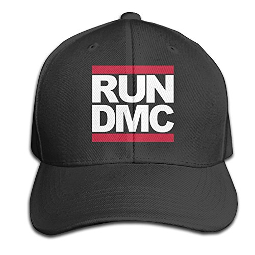 Logo Hat Baseball Adjustable (Run DMC Classic Logo Men And Women Hip Hop Black Adjustable Cotton Hat Fashion Cap)