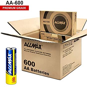 Image of Health and Household ALLMAX All-Powerful Alkaline Batteries - AA Wholesale Pack (600-Count) - Premium Grade, Ultra Long-Lasting and Leak Proof with EnergyCircle Technology (1.5 Volt)