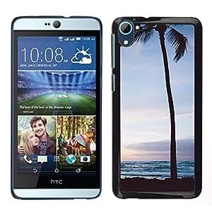 For HTC Desire D826 , S-type® Tree Sunset Sunrise Night Sky - Arte & diseño plástico duro Fundas Cover Cubre Hard Case Cover