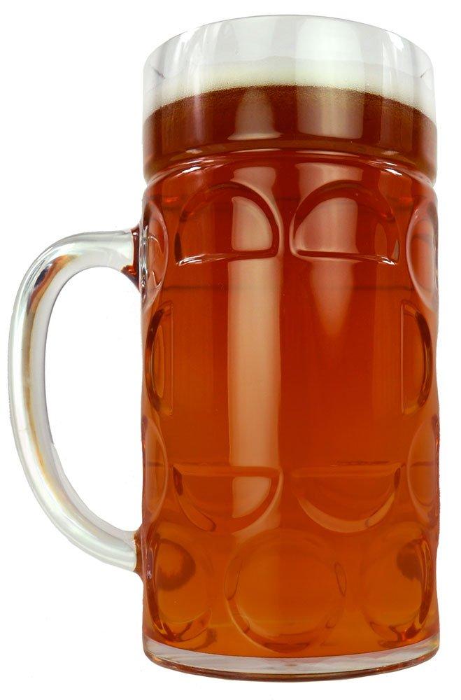 Amazon.com | 1 Liter Plastic Beer Stein Clear: Beer Mugs: Beer Mugs ...