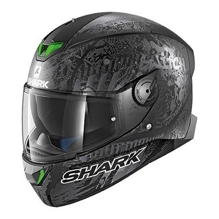Shark SKWAL 2 SWITCH RIDER 2 MAT KAS Casco de motocicleta, negro, talla M 2676_26825