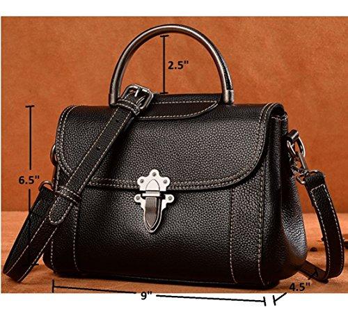 Strap Black Genuine Handbag Crossbody JeHouze Adjustable Small Fashion Women Purse Leather Z71F0