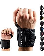 Fitgriff® Handledsbandage [handledsomslag] 45 cm handledsbandage för fitness, handledsstöd, bodybuilding, kraftsport och crossfit