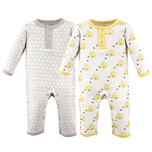 Hudson Baby Unisex Baby Coveralls/Union Suits, Bumble Bees, 6-9 Months (9M)