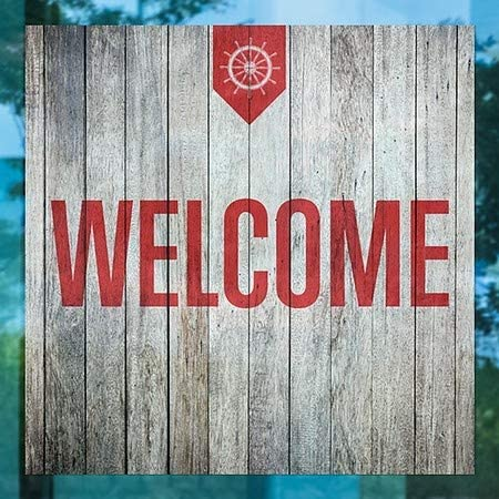 5-Pack Welcome CGSignLab Gold Window Cling 36x24