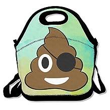 Pirate Poop Cute Emoji Poop Waterproof Lunch Tote Bag Insulated Reusable Picnic Lunch Boxes For Men Women Kids
