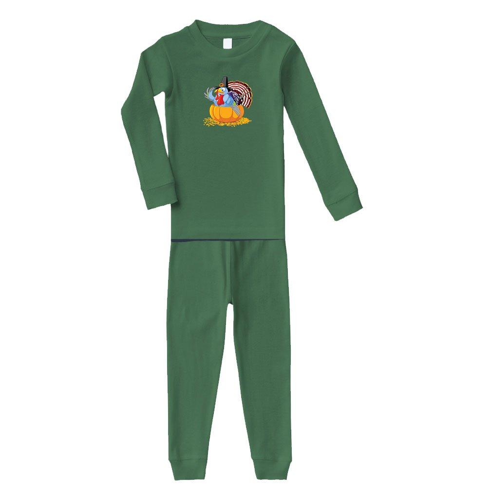 Cute Rascals Pumpkin Holidays Cotton Long Sleeve Sleepwear Pajama 2 Pcs Set Top and Pant PAJCLTR0033