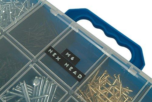 Box of 3 1741670 DYMO Labeller Tape Glossy Vinyl Embossing Tape 3//8 x 9.8 Black