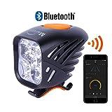 Magicshine NEW 2018 MJ 906B Bluetooth Front Bike Light, 5x CREE LED Waterproof Bicycle Light, 3200 lumen max actual output. USB rechargeable mountain bike light, programmable, waterproof MTB light.