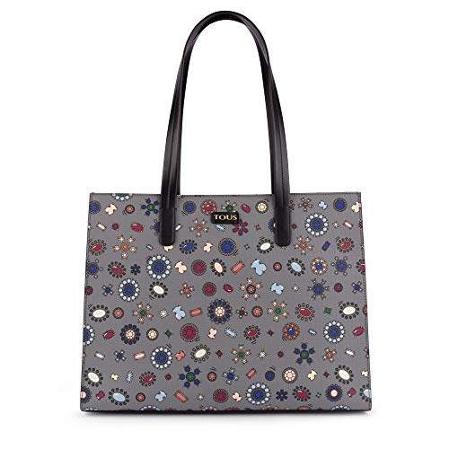 Donna Spalla Tous gris A Multicolore Teatime Borse Shopping negro wvxxqIRXH