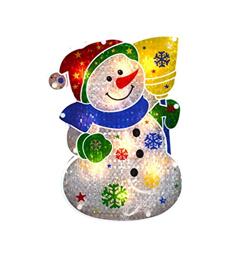 Holographic Snowman Christmas  Silhouette