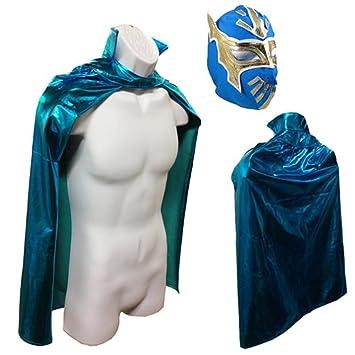 Pecado CARA JR lucha libre lucha máscara y capa disfraz de Halloween juego – azul