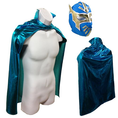 SIN CARA JR Lucha Libre Wrestling Mask u0026 Cape Halloween Costume Set - Blue Amazon.co.uk Sports u0026 Outdoors  sc 1 st  Amazon UK : sin cara costumes for kids  - Germanpascual.Com