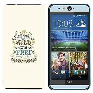 TECHCASE---Cubierta de la caja de protección para la piel dura ** HTC Desire Eye ( M910x ) ** --Viento Libre Good Things guirnalda azul