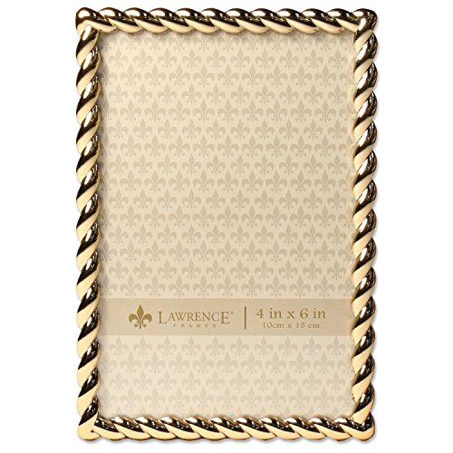 Lawrence Frames 4x6 Golden Rope Picture Frame]()