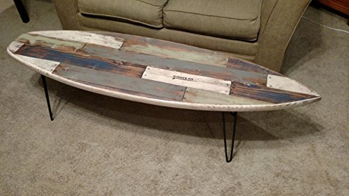 - Amazon.com: Faux Pallet Wood Surfboard Coffee Table: Handmade