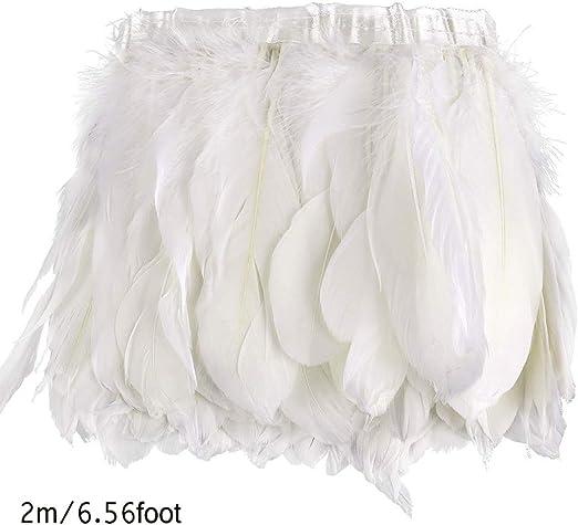 2M Cinturón plumas ganso blanco, Recorte la pluma Recorte la pluma ...