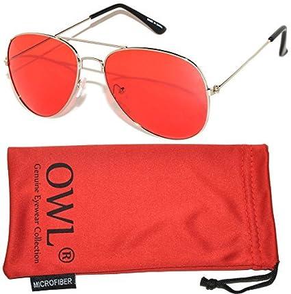 Amazon.com: Gafas de sol clásicas estilo aviador con marco ...