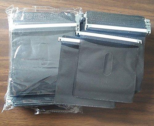 Premium Black Hanging CD DVD Plastic Refill Sleeves for Aluminum Media Storage Cases 200 pcs pack ()