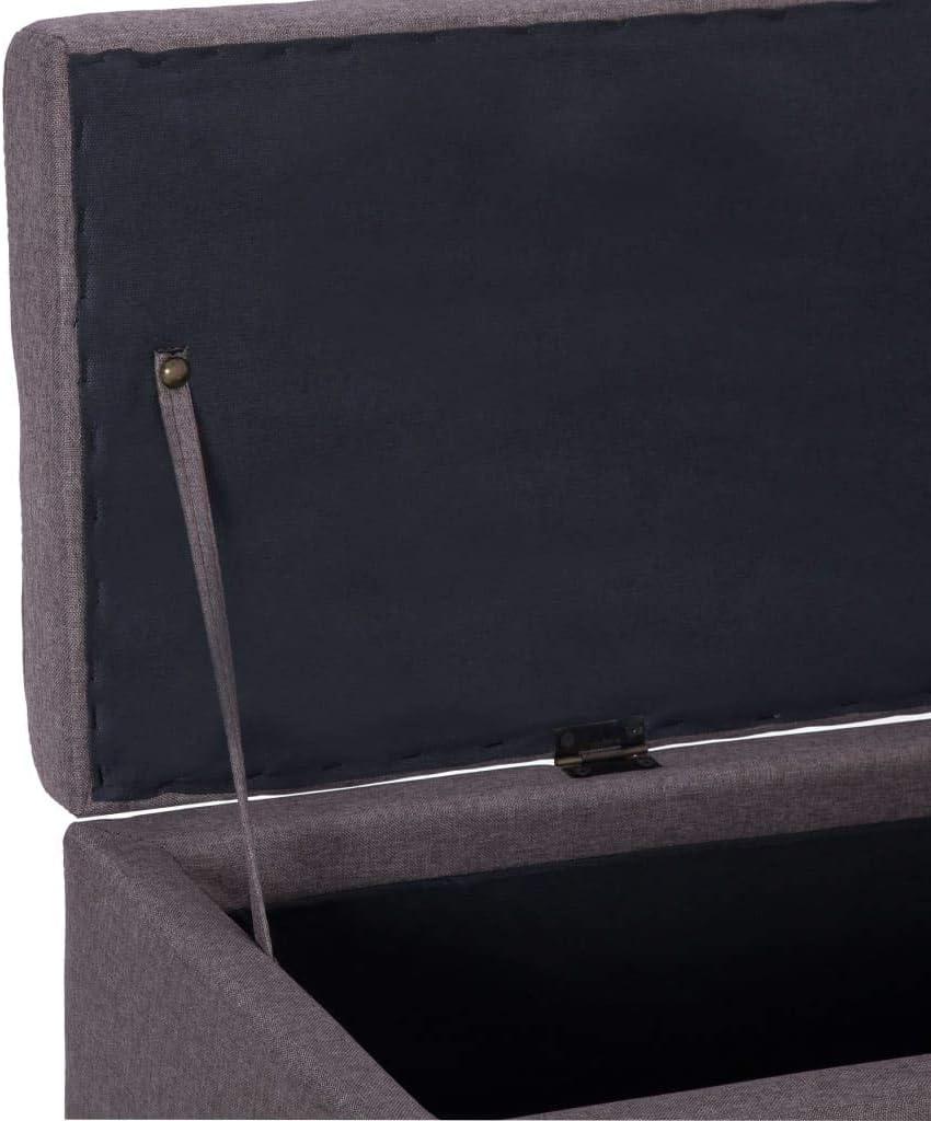 Festnigh Panca Contenitore Ingresso in Tessuto,Cassapanca Ingresso 2 Posti in Tessuto,Panca con Vano Portaoggetti Blu in Poliestere,Panca 2 Posti,Panca Ingresso,Panchina Tessuto 116 x 38 x 43 cm