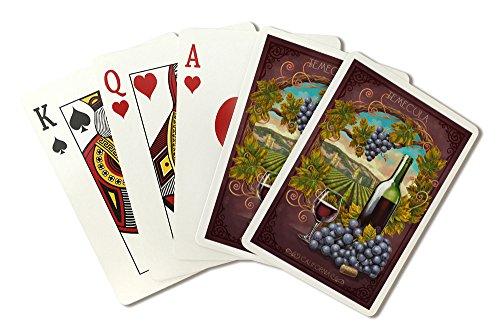 Temecula, California - Merlot Wine Scene (Playing Card Deck - 52 Card Poker Size with Jokers) -