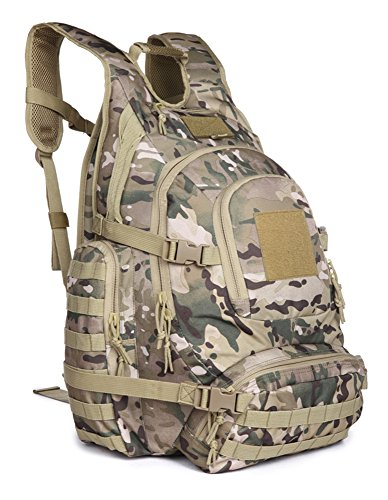 OUTGEAR Urban Go Pack Military Rucksacks Tactical Backpacks with Grenade Survival Kit For Hiking Climbing Shooting Outdoor Sports (Multicam)
