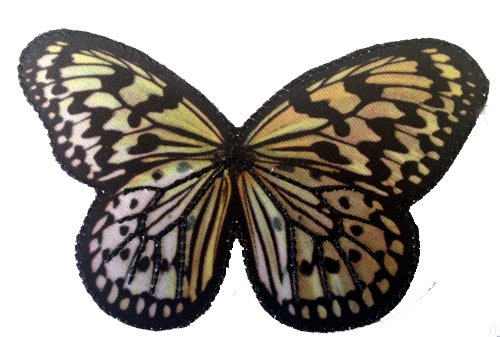 Novelty Animal Iron On Patch - Screen-Printed Monarch Butterfly Applique