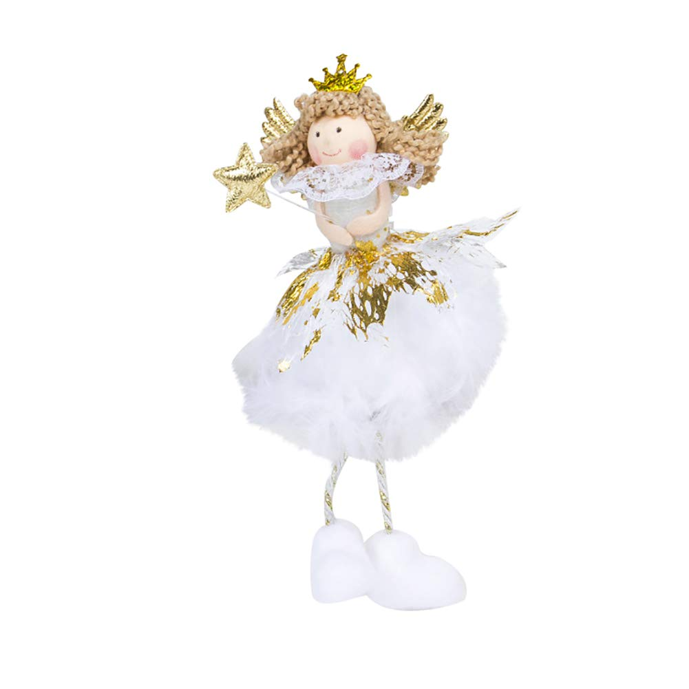 Finance Plan Big Promotion Lovely Christmas Angel Doll Children Toy Xmas Ornament Table Decoration Gift 1#