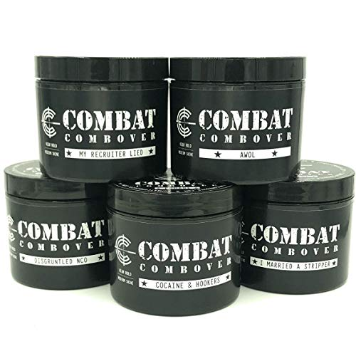 Combat Combover, Strong Hold Pomade, 4oz (I Married A -