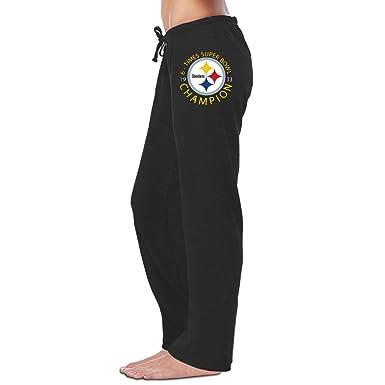 3e2f21ce Amazon.com: HYD Women's Sweatpants Pittsburgh Steeler Black Size XL ...