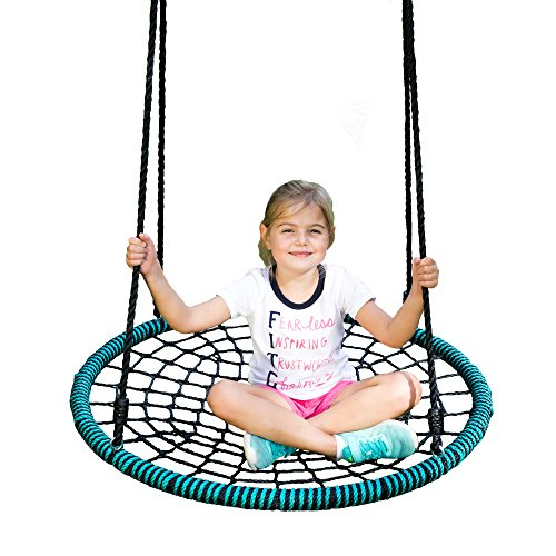 Spider Web Tree Swing – 40 Inch Diameter, 600 lb Weight Capacity, Fully Assembled, Easy to Install