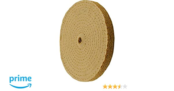 5//8 Thick 6 Sisal Buffing Wheel x 1//2 Hole \ 2 Pack 6 x 11-Ply \