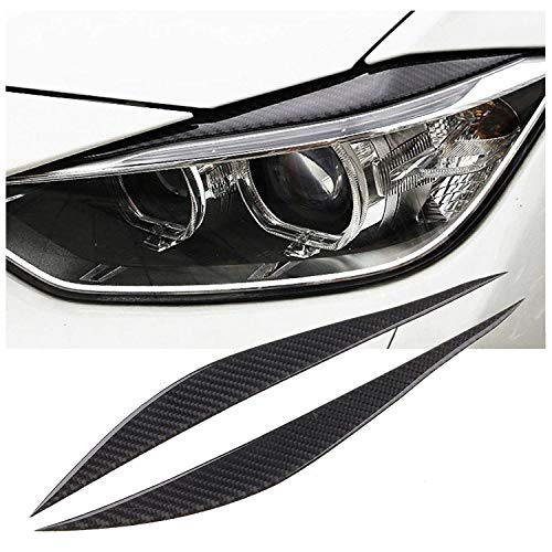 Headlight Eyelids - Carbon Fiber Headlight Eyebrows Eye Lid Sticker for BMW 3 Series F30 2013-2017