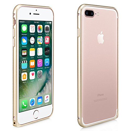 Alienwork Coque pour iPhone 7 plus ultra-mince Case Etuis Housse or champagne Aluminium or AP7P03-04