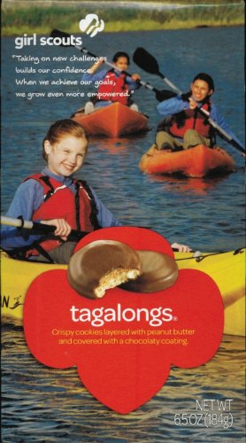 Girl Scout Tagalongs Cookies,6.5 oz (1 Box)