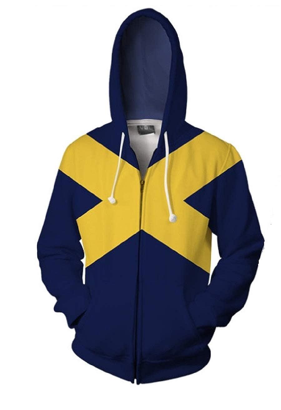 Snow Flying Superhero Hoodie Adult Sweatshirt Jacket Halloween Cosplay Costume
