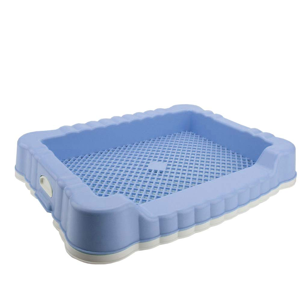 BYQDP Pet Toilet Dog Toilet, Small Pet Toilet Anti-Splashing Grid Dog Pee Anti Slip Pet Pet Toilet Plate Tray Living Room,Indoor,Outdoor,Patio,Balcony (Color : Blue)