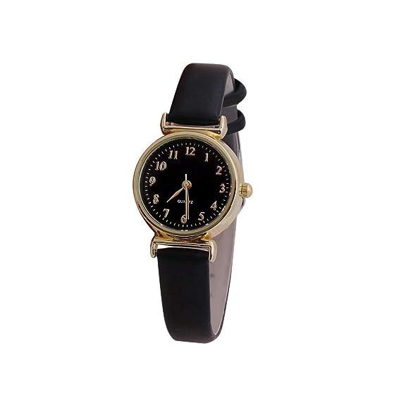JiaMeng Amistad Pulsera Relojes de Cuero de la Correa de Cuero de la Piel Reloj de