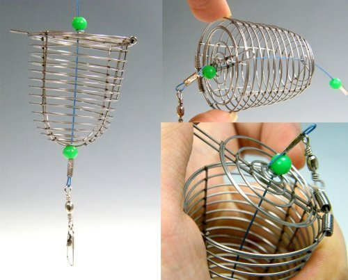 3pcs Handmade Fishing Trap Cage Basket Bait Cage by thkfish