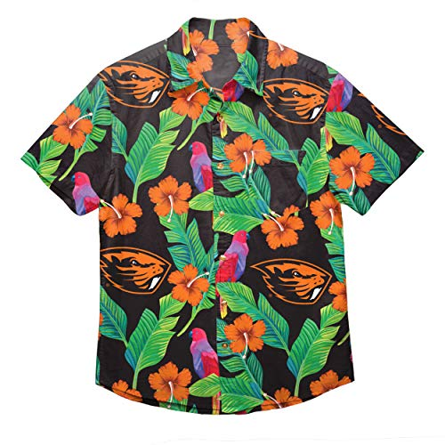 NCAA Oregon State Beavers Foco Floral Button Up Shirt, Team Color, XL ()