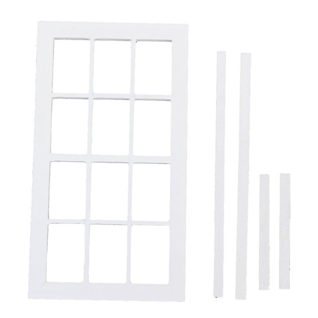 60%OFF juguete miniatura de madera marco de ventana - SODIAL(R) 1:12 ...
