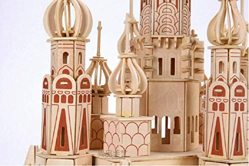 Zhiwen 3D Simulation Model Wooden Puzzle Kit for Children Or Adults Artistic Wooden Toys for Children-Buildings Series Castle by Zhiwen (Image #2)