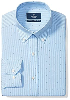 Buttoned Down Men's Tailored Fit Pattern Non-Iron Dress Shirt